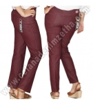 Celana Zetha Denim Burgundy