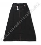 Rok Zetha Denim Warna Hitam
