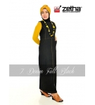 Baju Overall Zetha Denim Warna Full Black