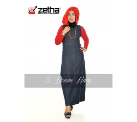 Baju Overall Zetha Denim Warna Navy