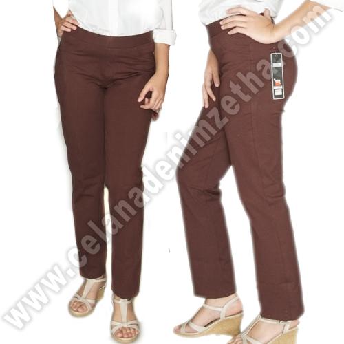 Celana Denim Warna Coklat Muda