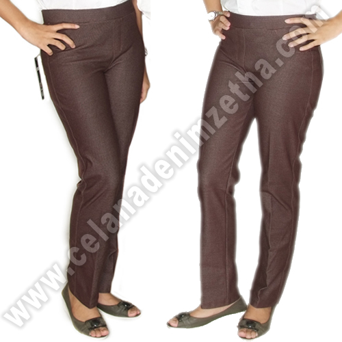 Celana Denim Warna Coklat Tua